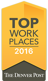 The Denver Post Top Workplace 2016 Badge