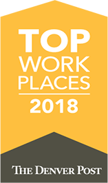 The Denver Post Top Workplace 2018 Badge